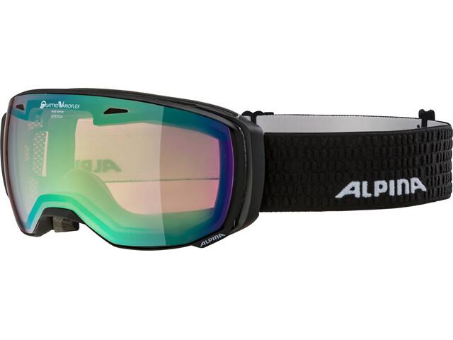 Alpina Estetica QVMM Goggles black matt green spherical